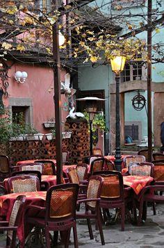 Cafe in Alsace, France