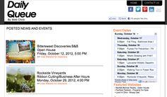 http://dailyqueue.com/   Daily Queue of clients events from WebChick.com