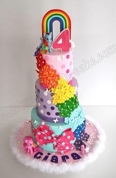 Celebrate with Cake!: My Little Pony Cake cake my little pony cake birthday party cake girl pink blue rainbow cookie cupcake