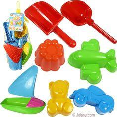 Assorted Colors San... 4Es Novelty 1 Dozen Beach Sand Pails And Shovels 7 Inch