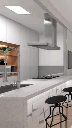 Closed Kitchen, Kitchen Design Open, Luxury Kitchen Design, Modern Kitchen Cabinets, Diy Kitchen, Kitchen Interior, Kitchen Decor, Awesome Kitchen, Kitchen Ideas