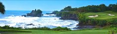 Nirwana Bali Golf Club - Par 3 over the beach!