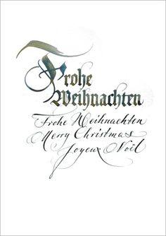 geschäftlicher Weihnachtsgruß mit Kalligraphie