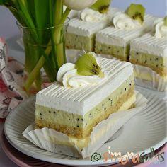 simonacallas - Desserts, sweets and other treats Romanian Desserts, Vegan Desserts, Kiwi, Vanilla Cake, Mousse, Caramel, Sweet Treats, Cheesecake, Deserts