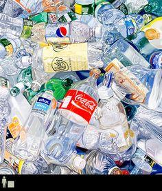 Recycled Bottles,Oil on Linen, 30 x 28 In, © Leslie Parke, 2011 Bottle Drawing, Bottle Painting, Bottle Art, Art Alevel, Hyper Realistic Paintings, Plastic Art, Recycled Bottles, Still Life Art, Gcse Art