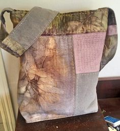 All the fabrics are dyed with plants; hand and machine sewn How To Dye Fabric, Fabric Art, Fabric Crafts, Shibori, Natural Dye Fabric, Natural Dyeing, Boro, Textile Dyeing, Textiles