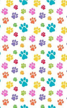 Print Wallpaper Dog Walking Treats Pet Paws Backgrounds Pattern Paw Prints Muy Kawaii Searching