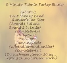 Grace, Lace, and Iron: Tabata Turkey Blaster