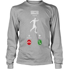 Soccer is calling! gift - Mens Long Sleeve T-Shirt by Next Level  #gift #ideas #Popular #Everything #Videos #Shop #Animals #pets #Architecture #Art #Cars #motorcycles #Celebrities #DIY #crafts #Design #Education #Entertainment #Food #drink #Gardening #Geek #Hair #beauty #Health #fitness #History #Holidays #events #Home decor #Humor #Illustrations #posters #Kids #parenting #Men #Outdoors #Photography #Products #Quotes #Science #nature #Sports #Tattoos #Technology #Travel #Weddings #Women