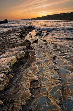 Abalone Cove sunset, California, USA , photo by M-Kuhns.
