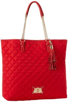 "Juicy Couture Easy Everyday Anja YHRU3478 Tote Price:	$178.00 100% Nylon nylon lining magnetic closure 9"" shoulder drop 15"" high 16"" wide Shoulder strap length: 20"" http://www.amazon.com/gp/product/B009L7S3IO/ref=as_li_ss_tl?ie=UTF8=1789=390957=B009L7S3IO=as2=wonderfulrota-20 #Handbags #Bags #Amazon #Tote"