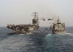 Re- fuelling for an extended mission at sea