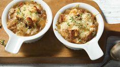 Soupe à l'oignon et à la bière. #IGA #recette #soupe