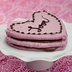 Raspberry Meringue Heart Stack. This looks very good.