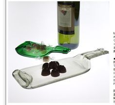 It's a good idea to reuse the winebottle!