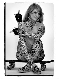 Tattoed Skater Girls Series By Mike Giant