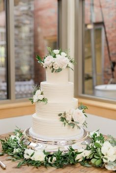 Cheekwood Wedding in Nashville, TN with lush, garden style flowers, white and green bouquets, pale Floral Wedding Cakes, Wedding Cake Rustic, White Wedding Cakes, Elegant Wedding Cakes, Wedding Cake Designs, 3 Teir Wedding Cake, Wedding Cake Tables, Spring Wedding Cakes, Wedding Cake Table Decorations