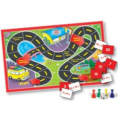 Math Learning Games Board Game- Grade 1