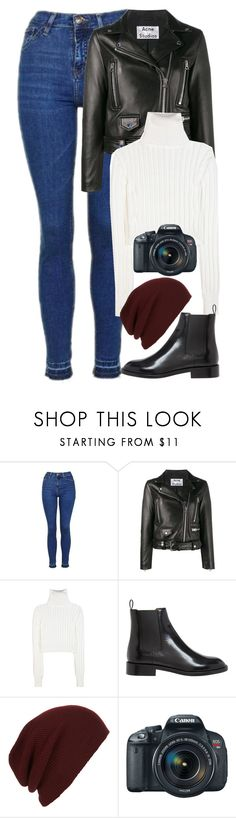 """""""Untitled #1107"""" by zarryalmighty ❤ liked on Polyvore featuring Topshop, Acne Studios, Calvin Klein Collection, Yves Saint Laurent, Topman, Eos and Winter"""
