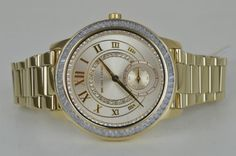 Michael-Kors-Damenuhr-Uhr-Madelyn-MK6287-Gold-mit-Steinen-Women-Ladies-Watch