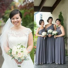 awesome vancouver wedding Another one from Kaitlyn's wedding! Loving the color choices she picked for her bridesmaids dresses and bouquets, so modern yet classy at the same time...so pretty!! My team and I had such a fun time glamming you ladies up, thanks for good memories! Makeup and hair by #cremebridal #makeupartist #wedding #weddingbells #vancouverbride #bride #bridehair #bridesmaid by @cremebridal  #vancouverwedding #vancouverweddingmakeup #vancouverwedding