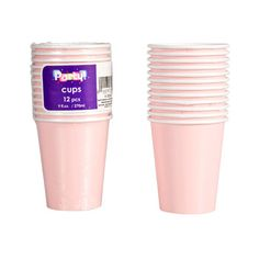 """""""Blushing"""" pink complements any celebration... great for bridal showers, baby showers, and princess parties! Hot/cold paper beverage cups are perfect for serving punch, juice, coffee, and mo"""