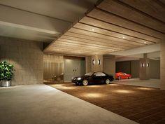 Car Park Design, Parking Design, Parking Lot, Car Parking, Park Signage, Basement Entrance, Porte Cochere, Luxury Garage, Futuristic Interior