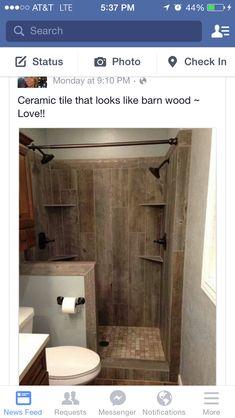 "Gorgeous ""wood"" bathroom"