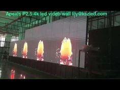 Apexls P2.5 4k led video wall - Lily 008613602598446 - YouTube