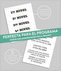 """Para La Primaria: Ideas divertidas de cantar la cancion del mes: """"Perfecta Para El Programa"""""""