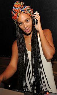 Headwrap + box braids