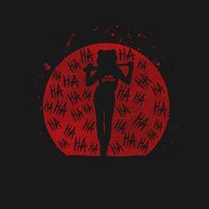 Shop Shadow Harley harley quinn t-shirts designed by Melonseta as well as other harley quinn merchandise at TeePublic. Der Joker, Joker Art, Harley Quinn Drawing, Joker And Harley Quinn, Harley Tattoos, The Villain, Gotham City, Catwoman, Pop Art