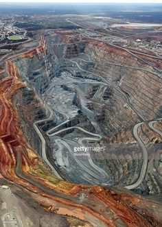 The Fimiston Open Pit mine, known as the Super Pit (Photo by Bloomberg)   #SuperPit #Australia #aerial #photography
