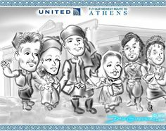 Farewell Athens, hello Venice. Visit #caricatures @ #UnitedNYPenn & all new flights from EWR https://facebook.com/caricature.artist.nyc