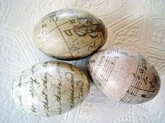 Shabby Chic Decoupaged Eggs, Easter & Spring Crafts. Now I know what to do with all those plastic eggs!