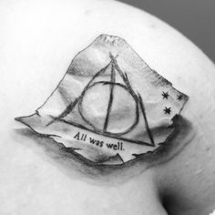 I always enjoy literary tattoos that aren't just lettering — no matter how small.