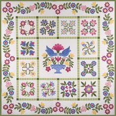 applique quilts | Applique Quilts: Bluebird's Piece O'cake