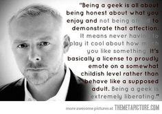 Being a geek…