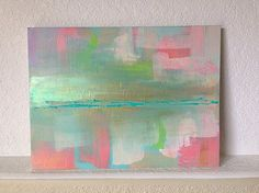 Abstract Painting ORIGINAL art 12x16 Pastel by BeachHouseGallery