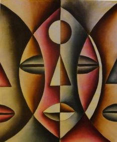 Learn About The Robust And Attractive African Art – Bored Art - Malerei African Artwork, African Art Paintings, African Abstract Art, Modern Art Paintings, Portraits Cubistes, Tableau Pop Art, Contemporary African Art, Art Africain, Africa Art