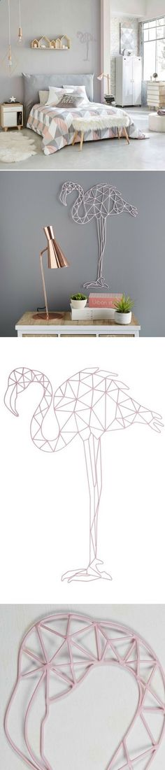 Pink flamingo wall decoration in wire ERIKA Maisons du Monde Source by homelisty My Room, Girl Room, Tumblr Rooms, Creation Deco, Trendy Bedroom, Decoration, Bedroom Decor, Bedroom Lighting, Home Decor