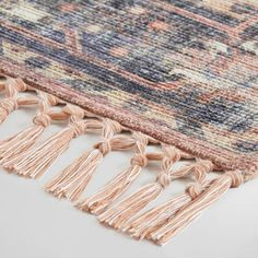 Persian Style Alma Indoor Outdoor Patio Rug with Backing: Multi - Polyester - x by World Market Outdoor Flooring, Indoor Outdoor Rugs, Outdoor Area Rugs, World Market Rug, Rug World, Southwest Rugs, Patio Rugs, Pink Rug, Diy Garden Decor