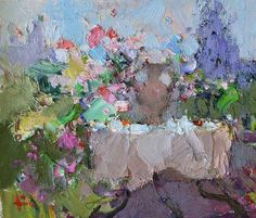 slava korolenkov - Google Search Boat Painting, Oil Painting Flowers, Flower Paintings, Abstract Oil, Abstract Landscape, Icelandic Artists, Russian Painting, Modern Impressionism, Virtual Art