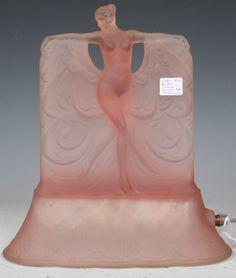 """Art Deco Pink """"Dance De Lumiere"""" Lady Lamp"""
