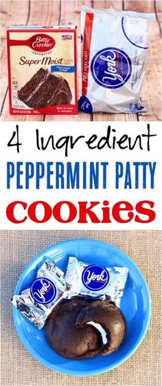The best chocolate Christmas dessert for your winter … Peppermint Cookies Recipe! The best chocolate Christmas dessert for your winter parties! Chocolate Chip Cookies, Xmas Cookies, Cake Mix Cookies, Yummy Cookies, Cookies Et Biscuits, Chocolate Art, Sandwich Cookies, Pecan Cookies, Cheesecake Cookies