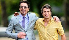 Robert Downey Jr & Mark Ruffalo - cool science dudes as Tony Stark (iron man) and Bruce Banner (hulk)