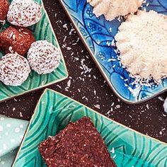 No-Bake Coconut Bars Done 3 Ways
