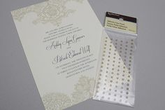 Free Wedding Invitation Templates - Adding pearls and finishing touches