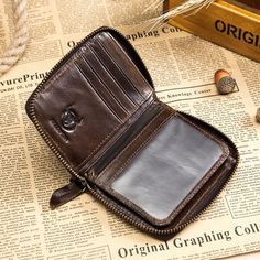 fd61e557936cfd BULLCAPTAIN BULLCAPTAIN Vintage Genuine Leather 10 Card Slots Coin Bag Wallet  For Men sales at a wholesale price. Come to Newchic to buy a wallet, ...