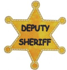 Deputy Sheriff Appliqued Embroidered Patch | sewluckyembroidery - Needlecraft on ArtFire